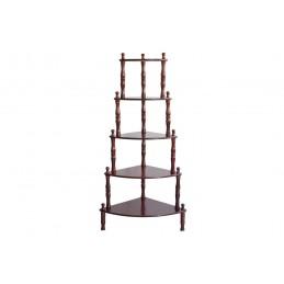 raft din lemn , cu 5 polite pentru depozitare obiecte de mici dimensiuni, decoratiuni, rame foto.
