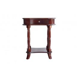 consola din lemn de dimensiuni reduse , nuanta maro cu sertar ideala pentru un living sau hol.