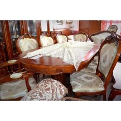 Masă Principessa + 8 scaune